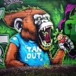 Graffiti Artist Squid Talks About His Monkey King Graff