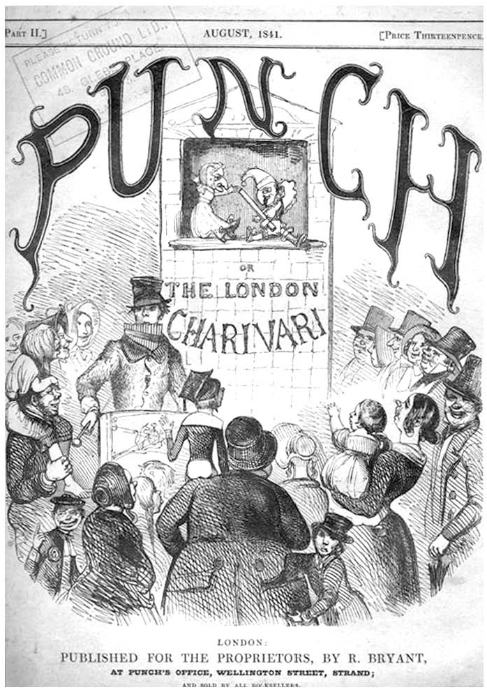 First Issue of Punch, or the London Charivari, August 1841.
